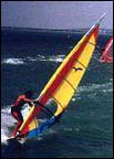 windsurfing on south padre